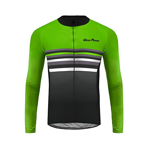 Uglyfrog Bike Wear Veste Cycliste Homme Design Spécial Maillot Cyclisme Manches Longues Ultra-léger et Respirant Cycling Jersey