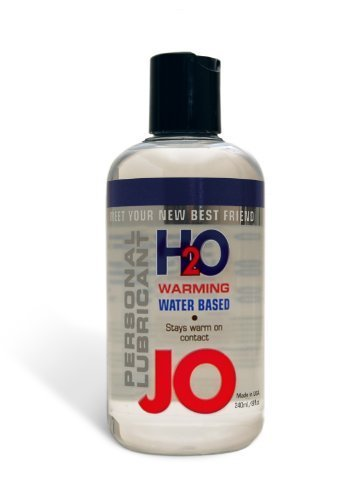 System JO H2O Warming Personal Lubricant, Water Based, 8-Ounce Bottle