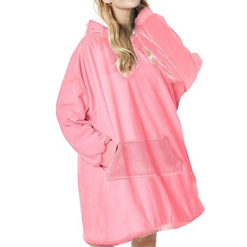 Sendowtek Blanket - Sudadera con capucha extragrande de Sherpa, manta portátil, supersuave, cálida y acogedora, talla única, ideal para mujeres, niñas, adultos, hombres, niños y amigos