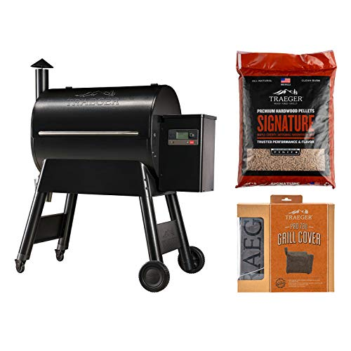 Traeger Grills Pro Series 780 Wood Pellet Grill and Smoker Bundle with Cover and Signature Pellets...
