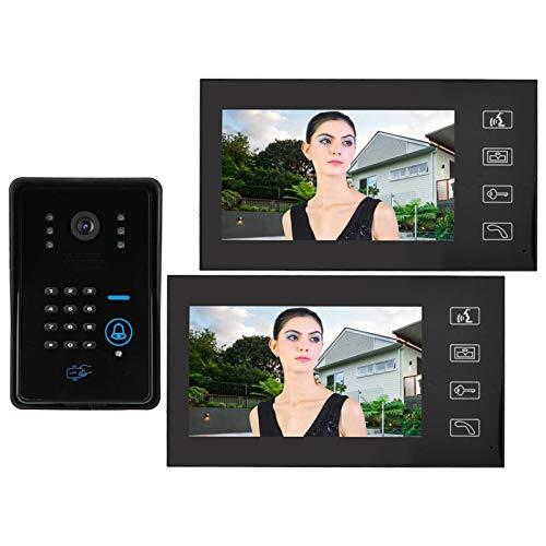 DAUERHAFT Videoportero fácil de Instalar Tecnología táctil 1V2 de 7 Pulgadas(European Standard (110v-240v))