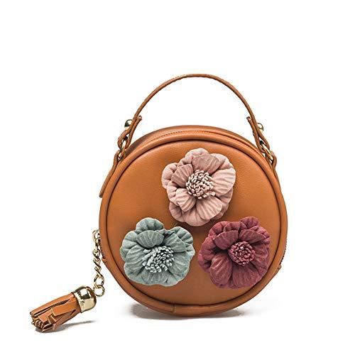 Geldbörse Umhängetasche Damen PU Leder Handtasche Dame Cartoon Blume Strandtasche Messenger Bag @ 3
