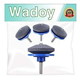 Wadoy Aiguiseur de lame de tondeuse à gazon pour perceuse électrique manuelle (lot de 4)