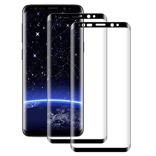 Verre Trempé pour Galaxy S8, [2 Pièces] Samsung Galaxy S8 Film Protection Ecran [Full Coverage] [Dureté 9H] [Ultra Claire] [Anti Rayures] Film Protecteur en Verre trempé pour Samsung S8