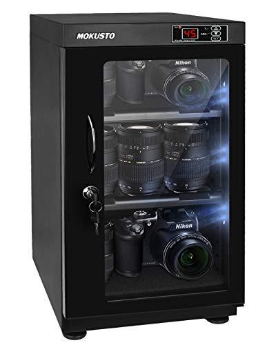 MOKUSTO防湿庫、カメラ防湿庫、カメラ収納ケース、E-ドライボックス、容量50L。