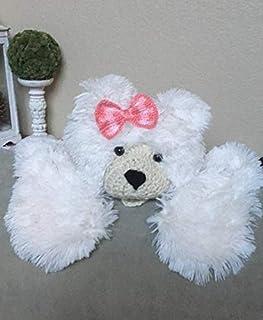 Woodland Baby Nursery Decor Polar Bear Rug Medium (34 X 48 inches) Girl White Animal Shape Blanket