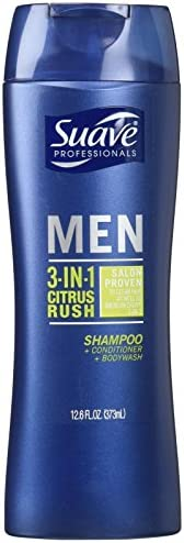 Suave Men 3 In 1 Shampoo Conditioner and Body Wash Citrus Rush 12 Ounce product image