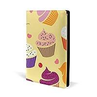 ブックカバー a5 カップケーキ チェリー きれい 文庫 PUレザー ファイル オフィス用品 読書 文庫判 資料 日記 収納入れ 高級感 耐久性 雑貨 プレゼント 機能性 耐久性 軽量