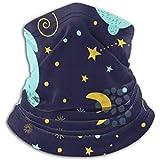 Linger In Microfaser Nackenwärmer-Halsmanschette Tube, Ohrwärmer Stirnband Face Mask.Childrens Sleeping Bunny Sky Blue