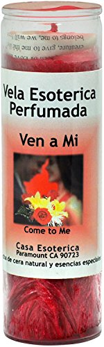Indio SPRITIUAL Palm Oil Candle-Come to Me Red Candle - Esoteric Palm Oil Wax(VEN A MI SCENTD)