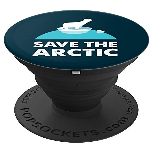 Arctic Animal Polar Bears Save the Arctic - PopSockets Ausziehbarer Sockel & Handgriff für Smartphones & Tablets