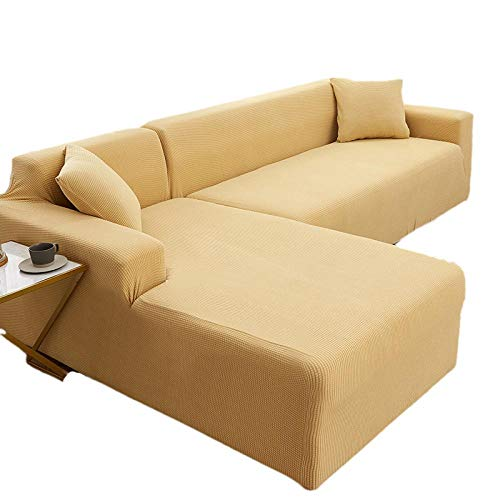 BLACK ELL Funda De Sofá, Anti-Suciedad,Antideslizante,Funda de sofá elástica Universal, cojín de sofá Universal elástico-C_235-300cm
