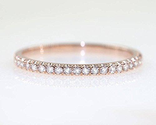 Diamond Ring  14k Gold Diamond Ring  Diamond Wedding Ring  Solid 14k Gold Diamond Ring  Gold Wedding Ring  Gold Stackable Diamond Ring
