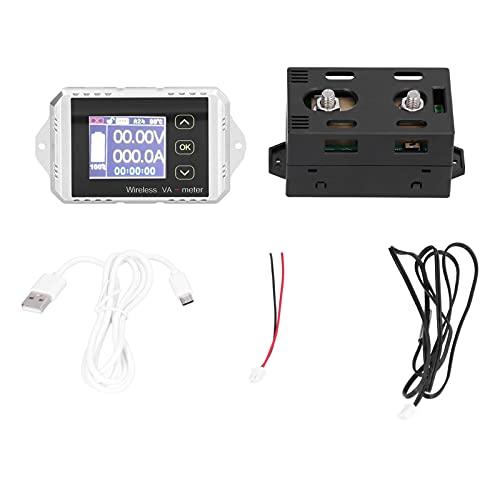 Contador de culombios VAT-1300, fácil instalación Peso ligero Prueba rápida Precisión Medidor de corriente de voltaje con cable USB para el lugar de mantenimiento de la batería