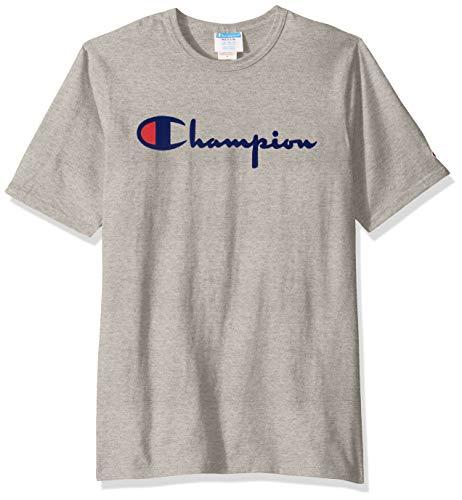 Champion Playera Cuello Redondo para Hombre Camiseta para Hombre, Color Gris (1Ic Oxford Gray), Chico