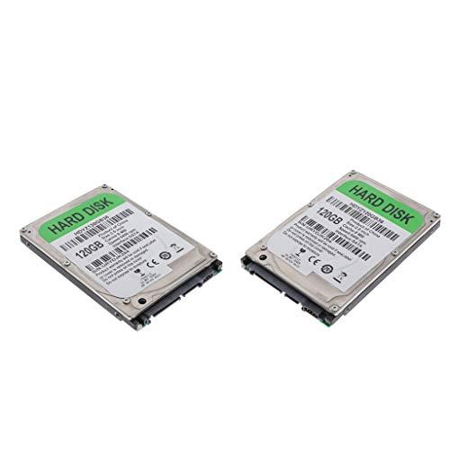 perfk 2pcs HDD Disco Duro Mecánico Interno SATA 8M con Velocidad de Rotación: 5400 RPM, 2,5 '' - 120GB