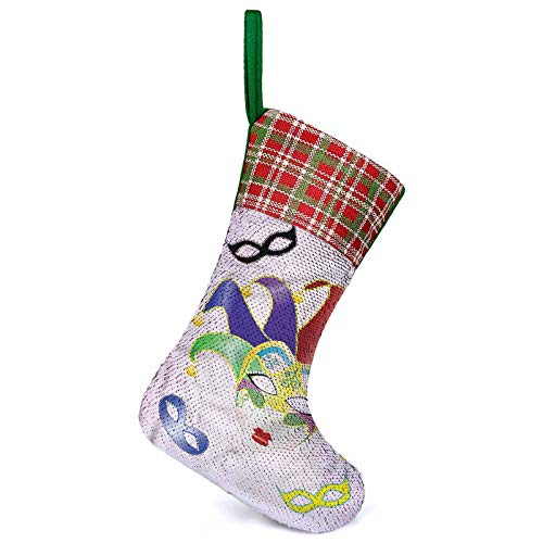 Adorise 3D Socks Gift Bags Christmas Carnival Mask Rustic Personalized Decorations for Christmas Decorations
