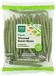 365 by Whole Foods Market, Organic Packaged Vegetables, Green Beans - Trimmed, 12 Ounce