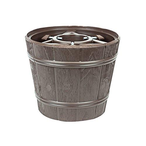 Kit vaso supporto porta albero di natale Planet, diametro 30 cm, colore: marrone