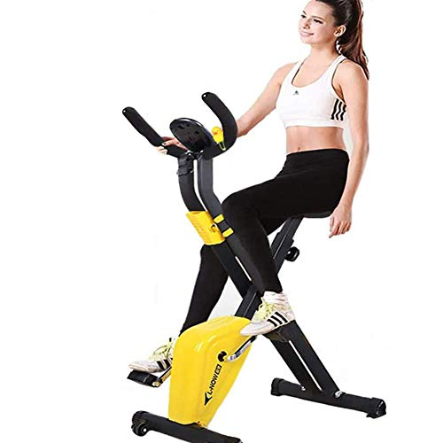 NOBUNO Indoor Cycling Bike Mini Cyclette Spinning Bike Pieghevole Nazionale Macchina Palestra Attrezzature per Il Fitness Sport Ciclismo Fitness Bike