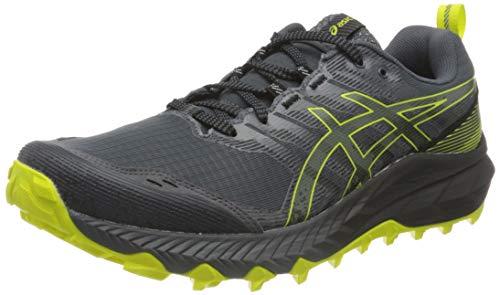 Asics Gel-Trabuco 9, Trail Running Shoe Hombre, Carrier Grey/Sour Yuzu, 42.5 EU