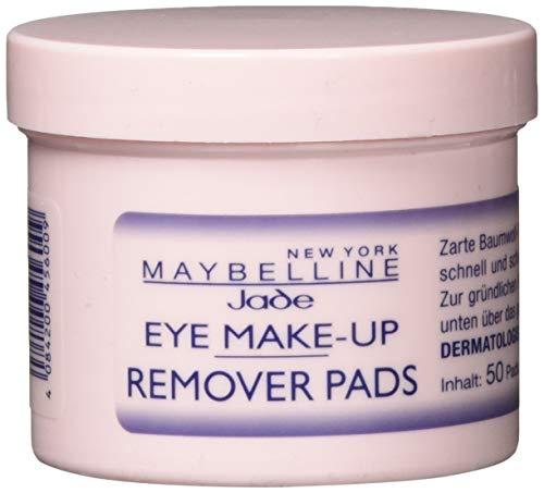 Maybelline Jade Augen Make-Up Entferner Pads, Auch für wasserfestes Make Up, 50 Stück