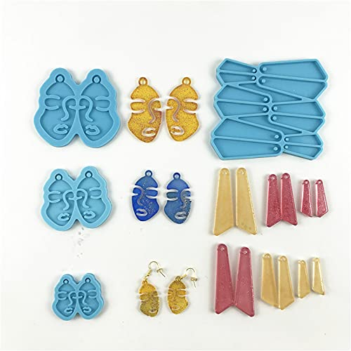 2 Sets Resin Earring Molds for Jewe…