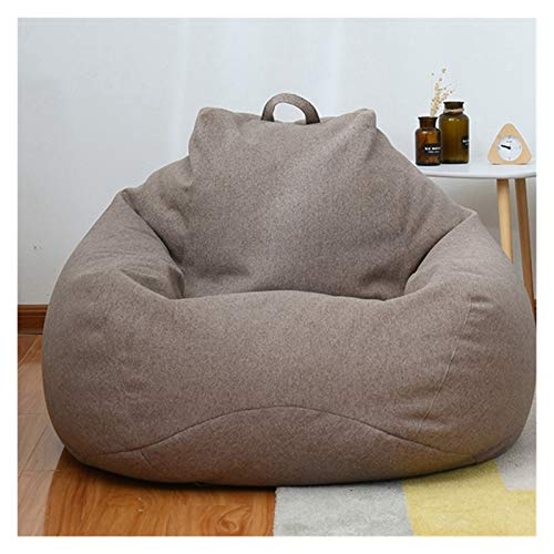 WDFDZSW Large Small Lazy Sofas Cover Chairs Without Filler Linen Cloth Lounger Large Lazy Sofa Cover Chair, Unfilled Linen Recliner Seat Bean Bag Cushion Stool Cushion Tatami Living Room