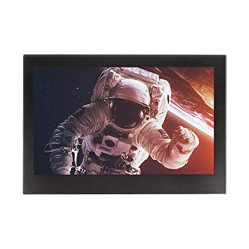 JOHNWILL tragbarer Monitor 7 Zoll LCD Full HD 1024x600 tragbarer Monitor, AV-Eingang/VGA/HDMI-Gehäuse aus schwarzem Metall