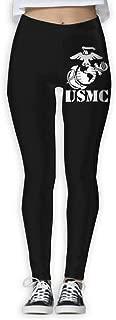 Eagle Globe Anchor USMC Marine Corps Vinyl Women Full-Length Yoga Pants Graphic Yoga Leggings Workout Leggings