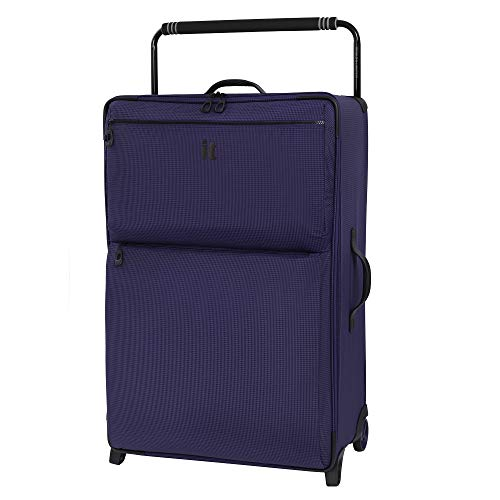 it luggage World's Lightest Los Angeles Softside Upright, Queen Purple, Checked-Large 33-Inch