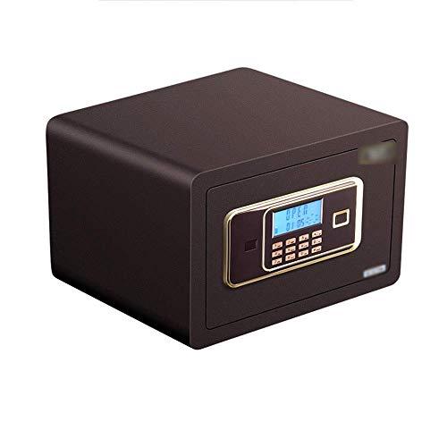 XiYou Caja de Seguridad Segura, depósito de contraseña Digital electrónica de 25 cm con Alarma Doble Cerradura de Acero para el hogar pequeño para Almacenamiento de Joyas Objetos de Valor Tarjet