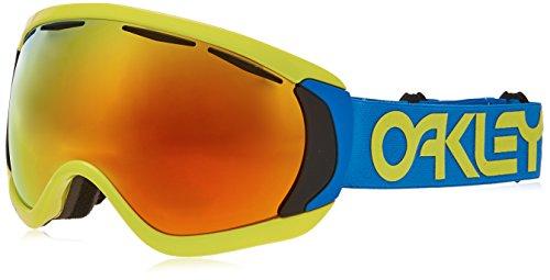 Oakley Herren Canopy 704714 0 Sportbrille, Blau (Factory Pilot Retina Bluee/Fire Iridium), 1