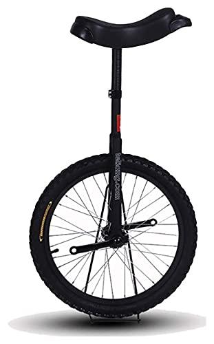 Unicycles para Adultos, niños, uniciclos Negros clásicos para Principiantes a los Corredores intermedios, 24 Pulgadas de 20 Pulgadas de 18 Pulgadas de 16 Pulgadas de Rueda niños/Adulto