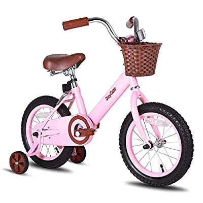 JOYSTAR 16 Inch Kids Bike with Training Wheels for 4 5 6 7 Years Old Girls, Child Kids Bicycle with Front Basket, Pink