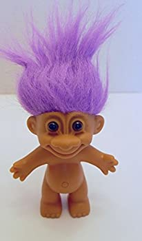 Russ Purple Haired Troll Doll 4.5 Inches Tall