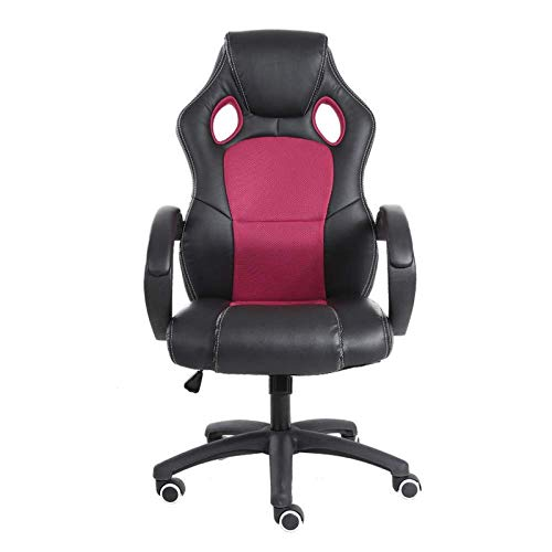 High Back Recliner For Adults, Gaming Swivel Chair Office Meeting Wheelchair Ergonomic Design, Breathable,2Red
