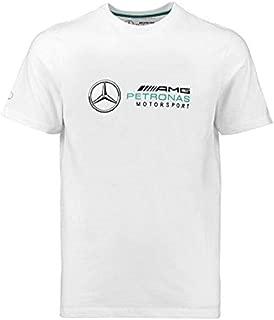 Mercedes Benz AMG Petronas Formula 1 Men's White Logo T-Shirt