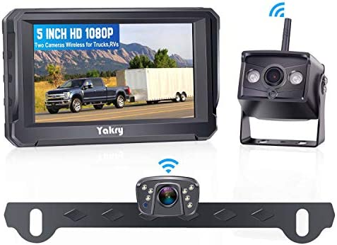 Yakry Y23 HD 1080P Digital Wireless Dual Backup Camera Hitch Rear View Camera for Cars Trailers product image