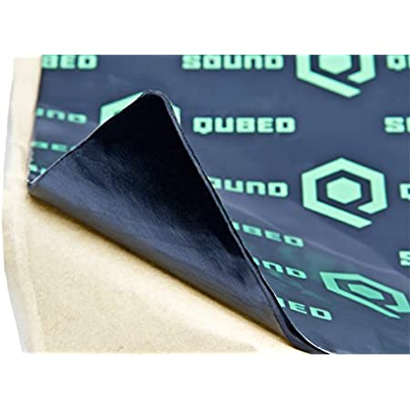 SoundQubed Q-MAT Sound Deadening Audio Insulation Mat 86.6 Mil (2.2 mm) Thick, 16 Square Foot Roll