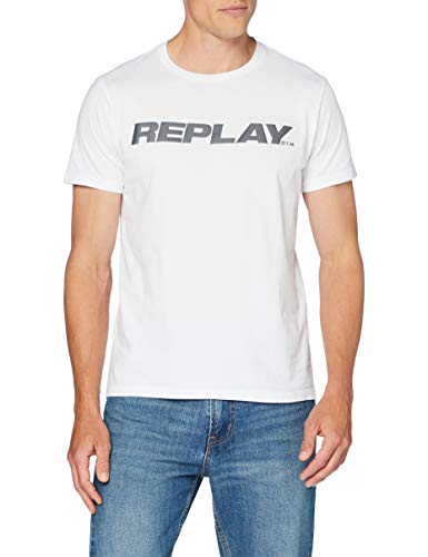 REPLAY M3142 .000.22880 Camiseta, 1 Blanco, M para Hombre