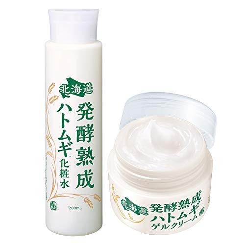 北海道 発酵熟成ハトムギ2点セット( 化粧水200ml+ゲルクリーム100g )保湿 ( 熟成プラセンタ配合 )