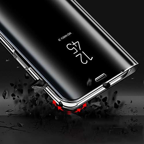 Bakicey Huawei Mate 20 Pro Leder Hülle Mirror Case Spiegel Handyhülle PU Leder Flip Case Cover Handy Schutz Echtleder Stand Rückschale Bumper Tasche Schutzhülle für Huawei Mate 20 Pro (Rotgold) - 5