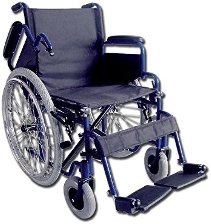 Carrozzina oxford, seduta 51 cm, sedia a rotelle per anziani gima 43272