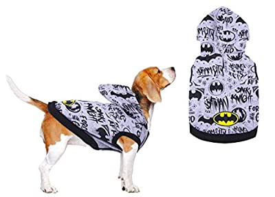 BATMAN Dog Jumper, Cat Sweater, Pet Hoodie, Puppy Clothing, Comfortable Breathable Lightweight Warm Pet Winter Clothing, Size Small