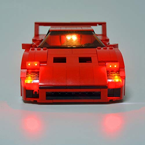 WDLY Kit De Iluminación LED, para (Ferrari F40) Bloques De Construcción De Modelos - Kit Luz Led Compatible con Lego 10248 (No Incluido El Modelo)