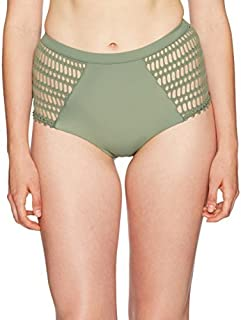 Rip Curl Womens GSILB8 Designer Surf Mesh High-Waisted Bikini Bottom Swimsuit Bottoms