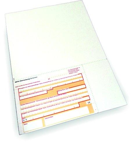 Überweisungsträger SEPA - Stand unten links, 1.000 Blatt, DIN A4, 90 g/qm OCR-Beleglesepapier