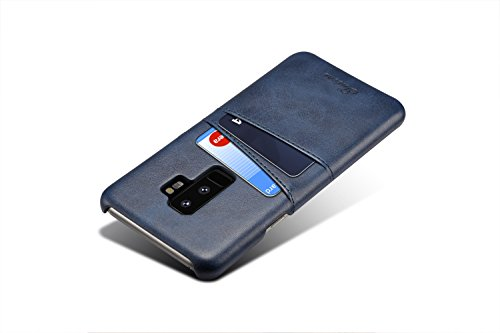 Funda para Galaxy S9,KelaSip Funda de Cuero para Galaxy S9 [Ultra Slim Diseño] Prevenir Arañazos Anti-Golpes con Ranura para Tarjeta,Billetera para Galaxy S9,Azul