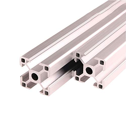 ZHANGAIGUO Extrusion Frame, 2PCS 3030 Aluminum Profile Extrusion 100mm-1000mm Length Anodized for CNC 3D Printer Parts DIY (Color : 500mm)